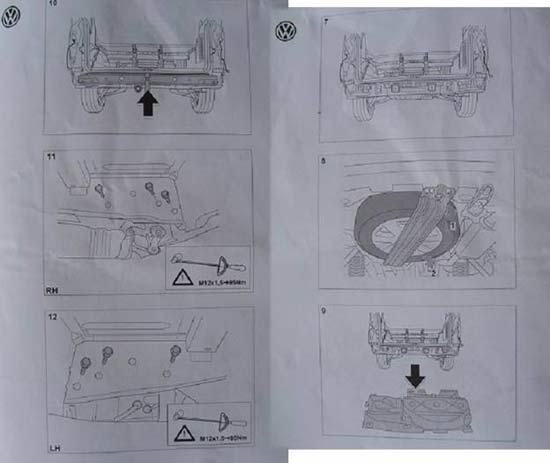 Установка фаркопа на VW T5